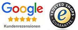 Bewertungen bei Trusted Shops und Google