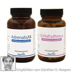 Adrenalis FA und Schlafrhytmus bei Erschöpfung, Schwäche und Stress, zur Unterstützung der Nebennieren