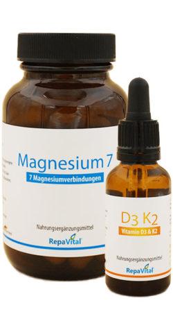 Knochen stärken mit Team Magensium 7 und Vitamin D3 K2Mk7.