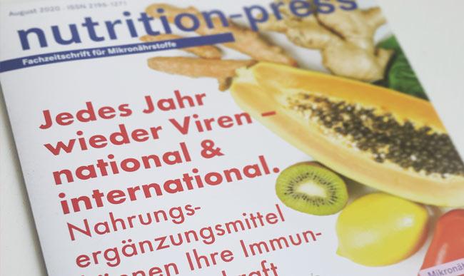 Nutrition Press Ausgabe August