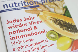 Nutrition Press Ausgabe August