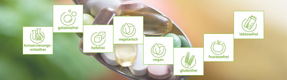 Hochwertige Nahrungsergänzungsmittel enthalten Mikronährstoffe ohne schädliche Zusatzstoffe